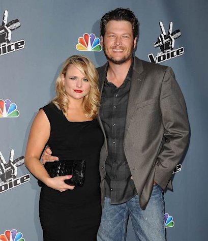 Miranda Lambert and Blake Shelton attend NBC's 'The Voice' season 4 premiere at TCL Chinese Theatre on March 20, 2013 in Hollywood -- FilmMagic