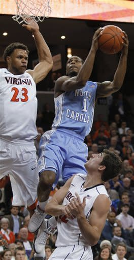 Harris' 19 points lead Virginia past Tar Heels