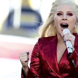 Lady Gaga Absolutely Slays the National Anthem in Sparkling Red at Super Bowl 50