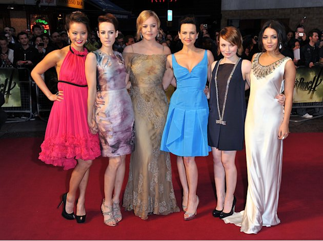 Sucker Punch UK premiere 2011 Jamie Chung Jena Malone Abbie Cornish Carla Gugino Emily Browning Vanessa Hudgens