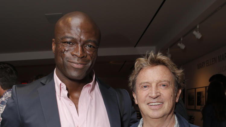 IMAGE DISTRIBUTED FOR LEICA - Seal and Andy Summers attend the Leica Los Angeles Grand Opening, on Thursday, June 20, 2013 in West Hollywood, California. (Photo by Todd Williamson/Invision for Leica/AP Images)