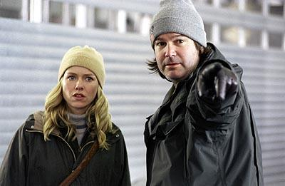 Naomi Watts and director Gore Verbinski on the set of Dreamworks' The Ring