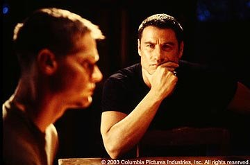 Brian Van Holt and John Travolta in Columbia's Basic