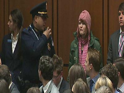 Raw: Protester Interrupts Kerry Hearing