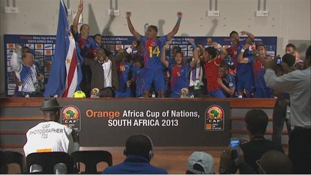 African Cup of Nations - Cape Verde gatecrash press conference
