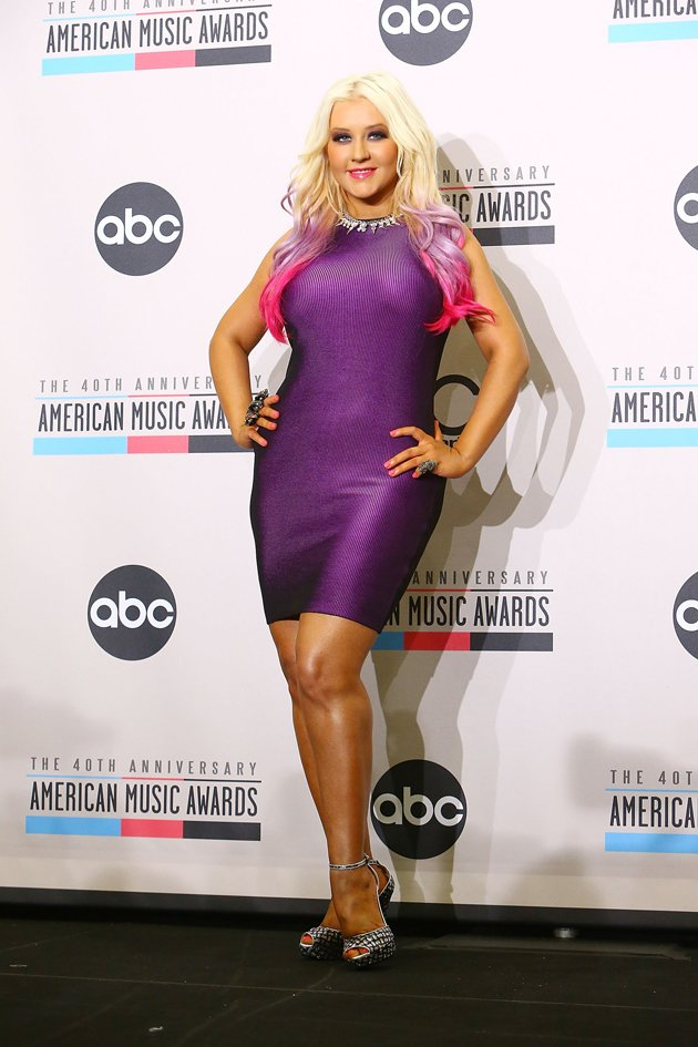 Christina at The 40th Anniversary American Music Awards earlier this