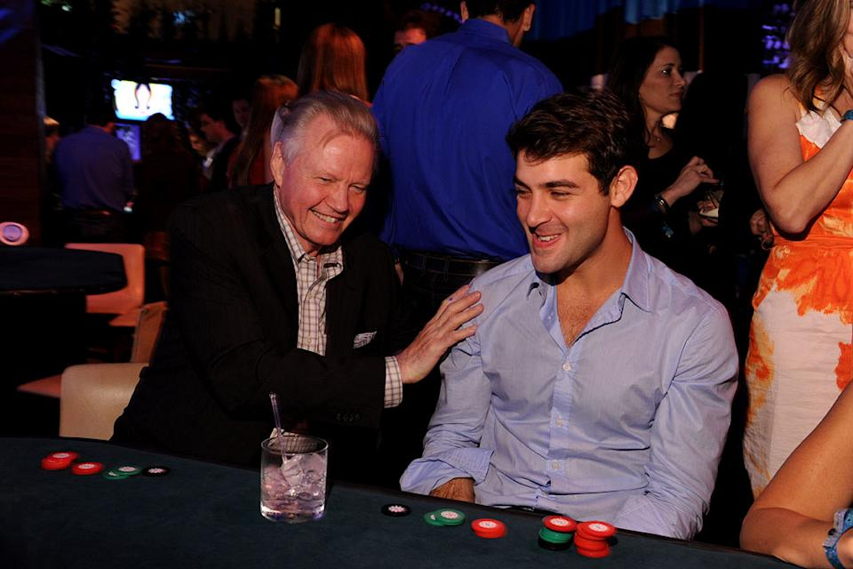 "Lonestar's Jon Voight and James Wolk of ""Lone Star"" celebrate at the 2010 Fox Fall Eco-Casino party on September 13, 2010, at Boa in West Hollywood."