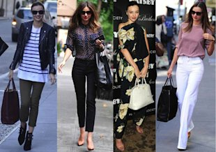 (Getty) Miranda Kerr's got the whole big-handbag thing nailed down, have you?