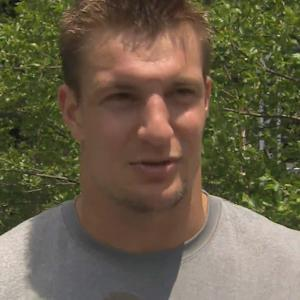 New England Patriots tight end Rob Gronkowski: Great to see Brady in practice