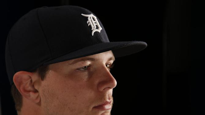 This is a 2015 photo of Grayson Greiner of the Detroit Tigers baseball team. This image reflects the Tigers active roster as of Feb. 28, 2015 when this image was taken at spring training in Lakeland, Fla. (AP Photo/Gene J. Puskar)