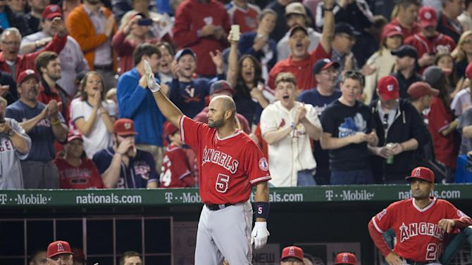 Pujols' 500th HR helps Angels beat Nationals 7-2
