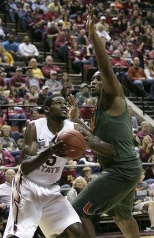 No. 15 Florida State edges Miami 64-59