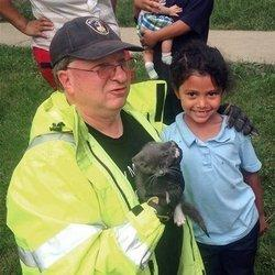 Firefighters Get Girl, 6,To Help Rescue Kitten