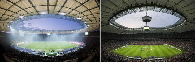 File photos of Olympic stadium …