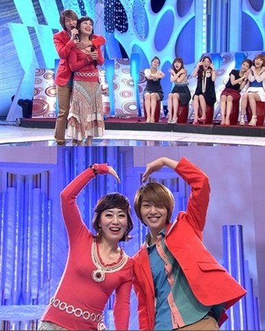 Legendary Singer Ha Choon Hwa Receives Back Hug From SHINee′s Onew