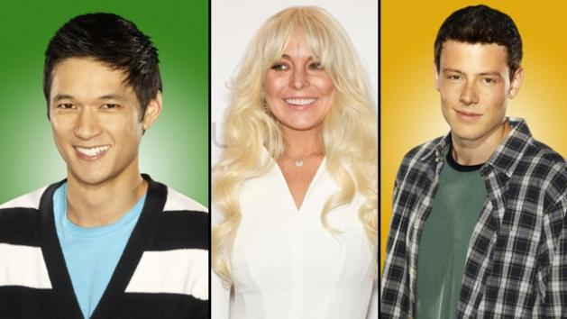 Harry Shum Jr. as Mike Cheng, Lindsay Lohan and Cory Monteith as Finn Hudson -- FOX/Getty/FOX