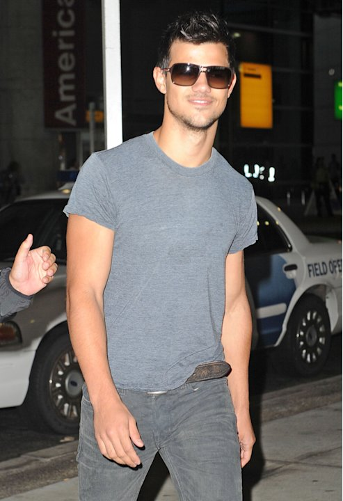Taylor Lautner arriving at …