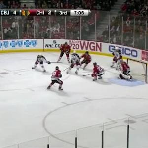Scott Darling Save on Nick Foligno (12:55/3rd)
