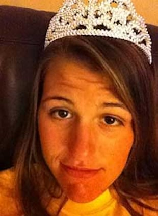 South Plantation quarterback Erin DiMeglio sports her homecoming tiara — Twitter