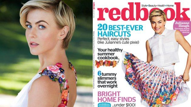 Julianne Hough on the cover of Redbook, August 2014 -- Matt Jones/Redbook