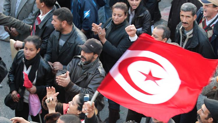 Pro-government activists attack Tunisia union
