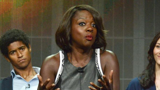 """Viola Davis speaks during the """"How to Get Away with Murder"""" panel at the Disney/ABC Television Group 2014 Summer TCA at the Beverly Hilton Hotel on Tuesday, July 15, 2014, in Beverly Hills, Calif. (Photo by Richard Shotwell/Invision/AP)"""