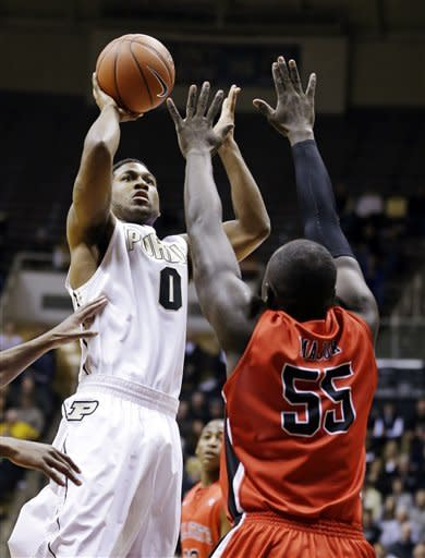 Purdue beats Ball State 66-56