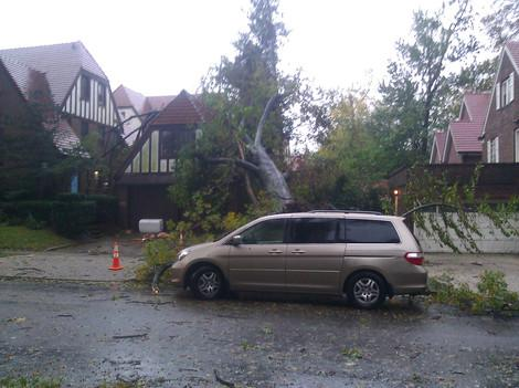 Photos: Sandy Destroys Garage in Queens
