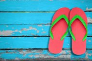 Foot pain experts say flip-flops may be a great poolside accessory, but that's about it