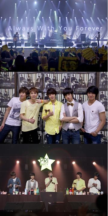 FT Island holds a fan meeting celebrating the 5th anniversary of debut