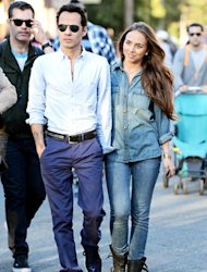 Marc Anthony, 44, Gets Affectionate With New Model Girlfriend Chloe Green, 21, Goes to Disneyland With Twins: Pictures