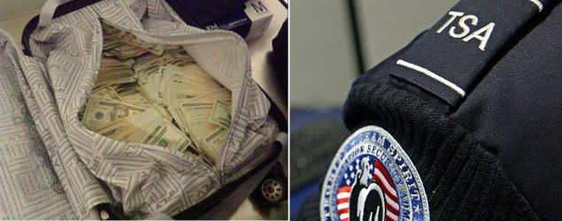 TSA worker slammed for tweeting carry-on cash