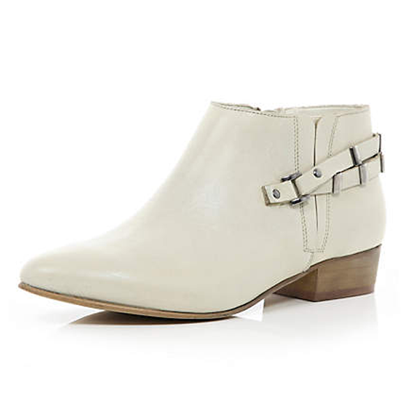 White pointed Western shoe boots, $110 at riverisland.com