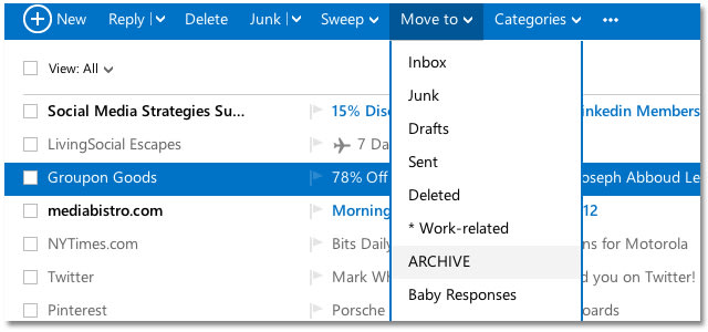 Outlook Organizing