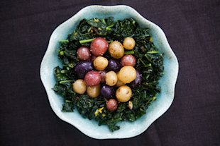 Dinosaur Kale with Baby Potatoes