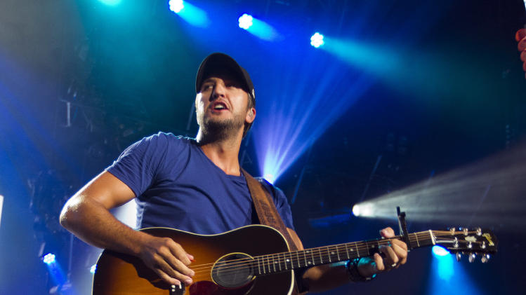 Country star Luke Bryan performed in concert at Aaron's Amphitheatre at Lakewood on Friday, July 25, 2014, in Atlanta, Ga. (Photo by Dan Harr/Invision/AP)
