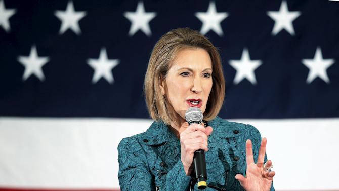 Potential Republican 2016 presidential candidate Fiorina speaks at the First in the Nation Republican Leadership Conference in Nashua