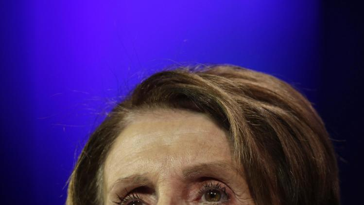 House Democratic Leader Pelosi speaks at the 2014 California Democrats State Convention at the Los Angeles Convention Center in Los Angeles