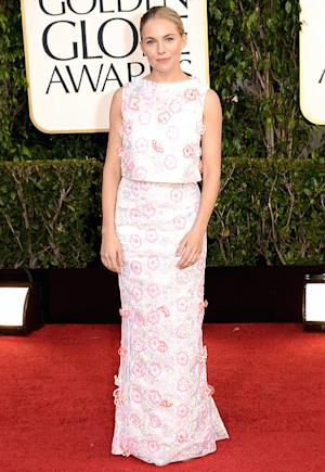 Sienna Miller's Floral Skirt and Top at the Golden Globes: Love It or Hate It?