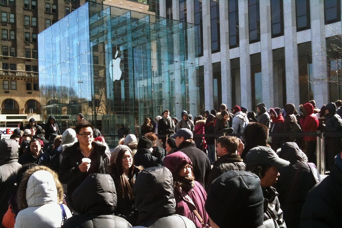 A man with a sword terrorized Apple's flagship New York store