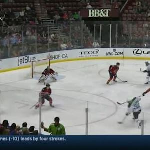Dan Ellis Save on Alex Goligoski (01:47/2nd)