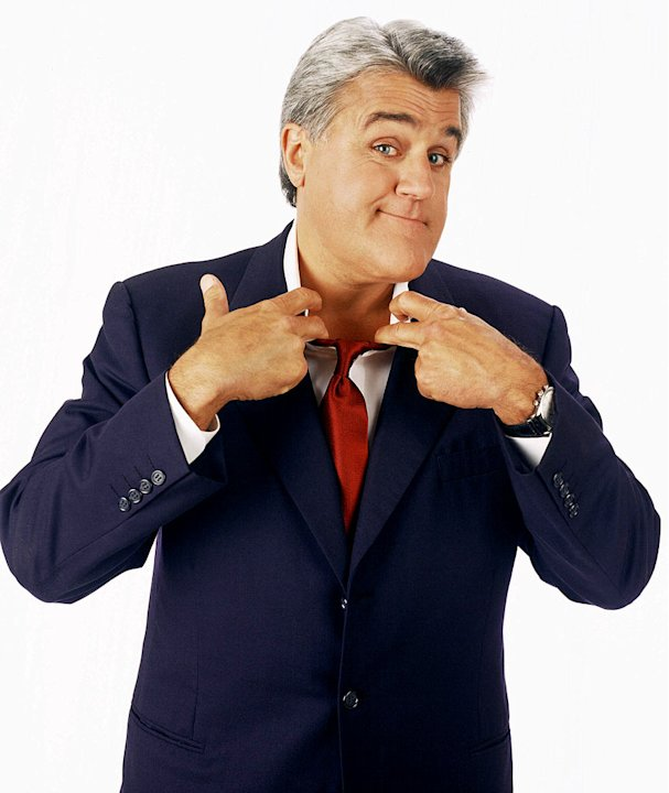 Jay Leno hosts The Tonight Show With Jay Leno on NBC.