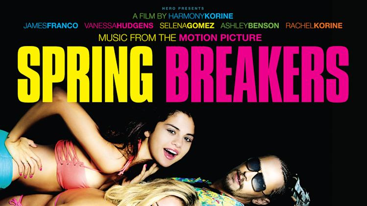 "This CD cover image released by Big Beat/WEA shows the movie soundtrack, ""Music From The Motion Picture Spring Breakers,"" by various artists. (AP Photo/Big Beat/WEA)"