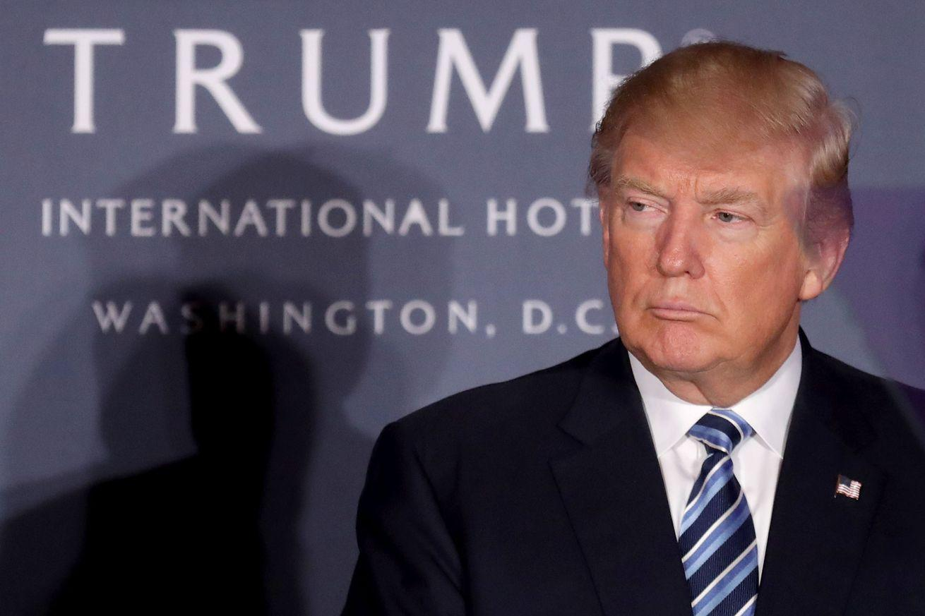Donald Trump's bizarre hotel opening proved he's in this for himself