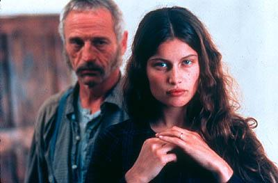 Johan Leysen as Rampal and Laetitia Casta as Therese in Paramount Classics' A Savage Soul
