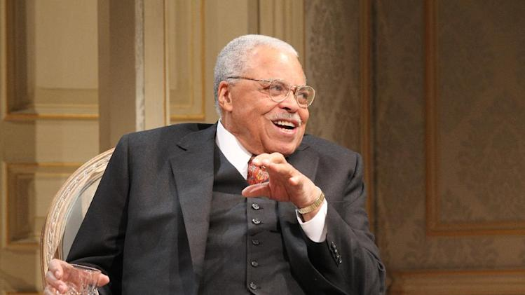 "In this undated theater publicity image released by Jeffrey Richards Associates, James Earl Jones is shown in a scene from Gore Vidal's ""The Best Man,"" in New York.  Jones was nominated for a Tony Award for best actor in a play, Tuesday, May 1, 2012, for his role in  Gore Vidal's ""The Best Man,""  The Tony Awards will be broadcast live from the Beacon Theatre on CBS, Sunday, June  10. (AP Photo/Jeffrey Richards Associates, Joan Marcus)"
