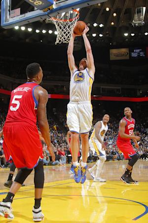 Speights, Warriors hand 76ers another rout, 123-80