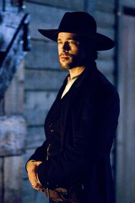 Brad Pitt as Jesse James in Warner Bros. Pictures' The Assassination of Jesse James by the Coward Robert Ford