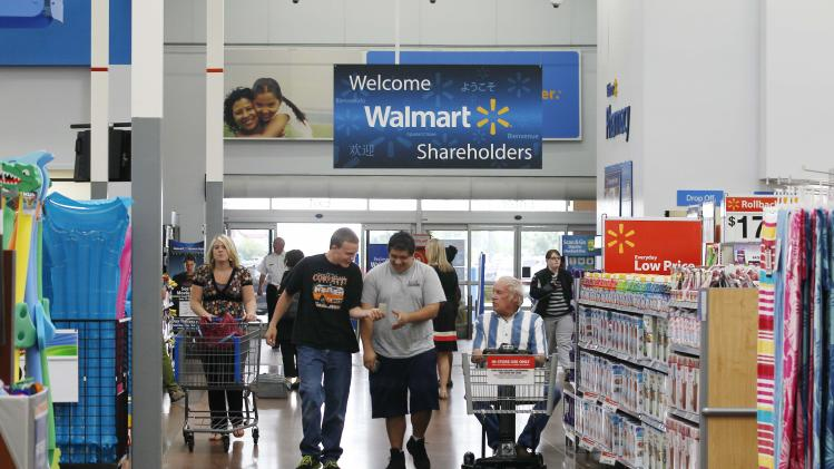 File of a Walmart Supercenter in Rogers