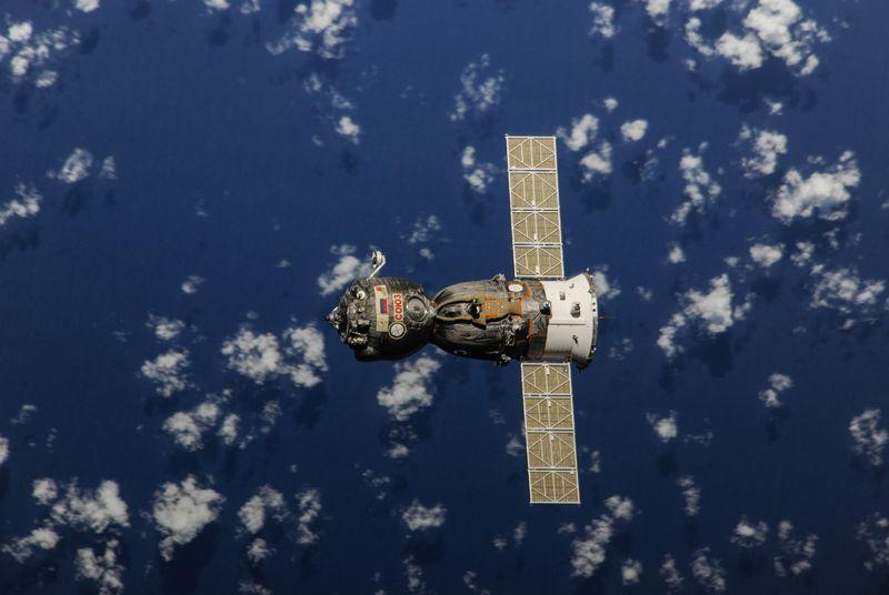 Watch three astronauts repark a Soyuz capsule on the ISS
